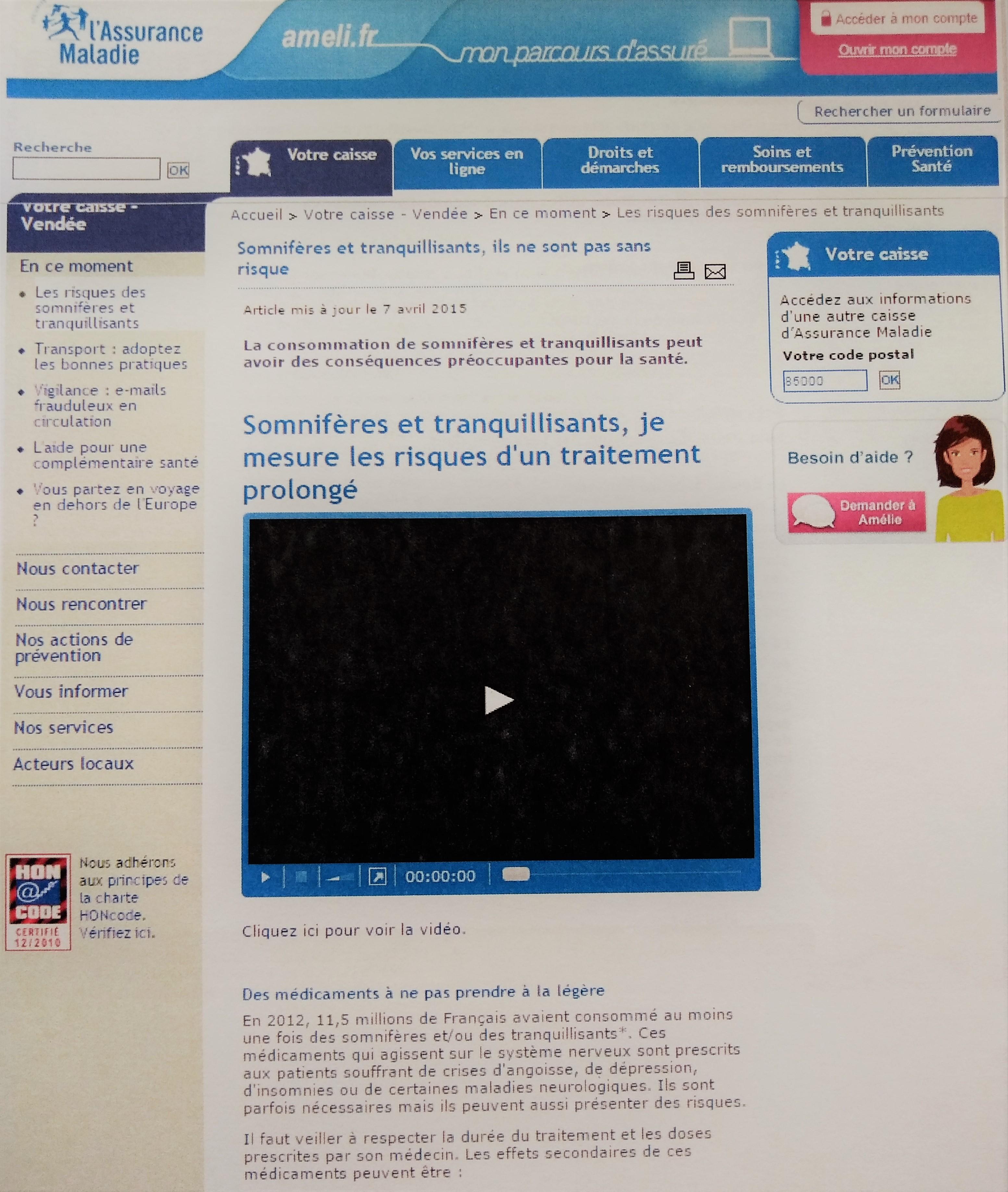 Article pour le site ameli.fr